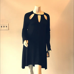 Michael Lauren L/S Dress w/Cutouts